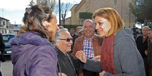 Cospedal durante su visita a Palomeque (Toledo).