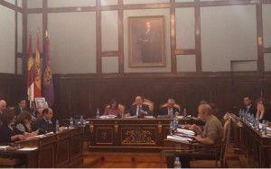 Imagen del Pleno de la Diputación celebrado hoy.