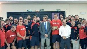 selección española rugby con Antonio Román