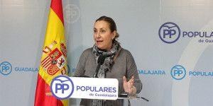 Silvia Valmaña diputada nacional del PP hoy en rueda de  prensa 310316