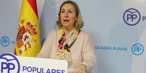 Silvia Valmaña, diputada nacional, hoy en rueda de  prensa