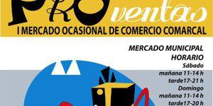 Fragmento del cartel anunciador del I Mercado Ocasional de Comercio.