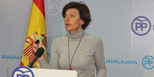Ana Gonzalez en rueda de prensa.