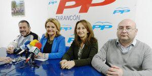 Bonilla junto a concejales del PP