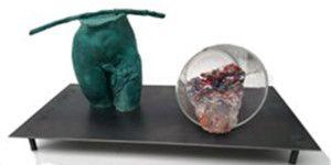 Detalle de una escultura de Carmona.