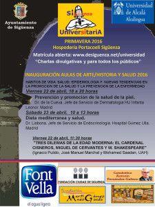 CARTEL SIGUENZA UNIVERSITARIA 23-14 ABRIL 16