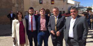 El portavoz del Gobierno regional, Nacho Hernando, visita Pozoamargo (Cuenca)