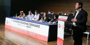 El presidente de Castilla-La Mancha, Emiliano García-Page inaugura, el VII Congreso regional de UGT