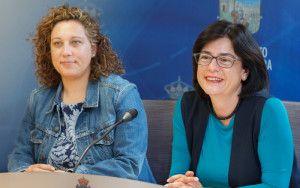 Presentación de ayudas para el fomento del empleo, Isabel Nogueroles y Verónica Renales.