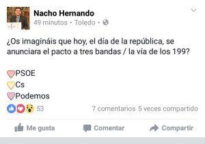 Tweet Nacho Hernando - 140416