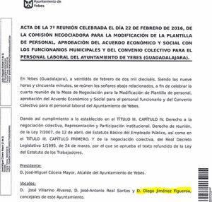 upyd y psoe acusan al pp de yebes de despreciar a los trabajadores del ayuntamiento