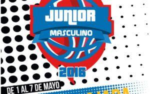 Cartel del Campeonato de España de Baloncesto Junior masculino.