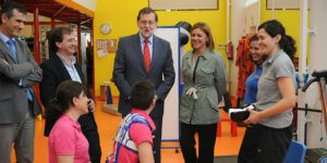 Cospedal y Rajoy visitan Fundación NIPACE.
