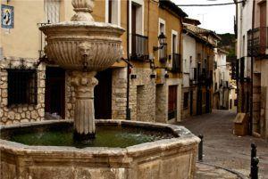 plaza y fuente de los cuatro caños pastrana