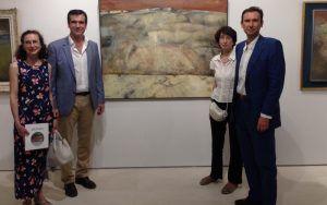 Antonio Román con los hijos de Pradillo.