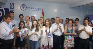El PP de Guadalajara celebra el triunfo en las elecciones de ayer domingo