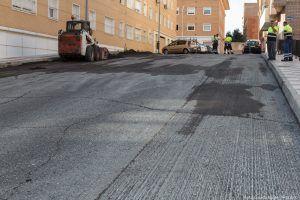 Presentación de operación asfalto 2016 en la calle Papa Juan XXIII