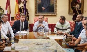 Reunión de trabajo sobre modificación de lindes, demarcación de la ciudad de Guadalajara