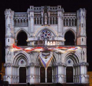 La póética de la libertad. Vídeo-maping sobre la facihada de la Catedral de Cuenca