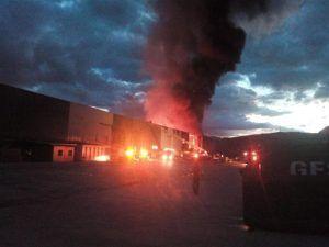 incendio en la planta de tratamiento de pasta de pan de Chiloeches