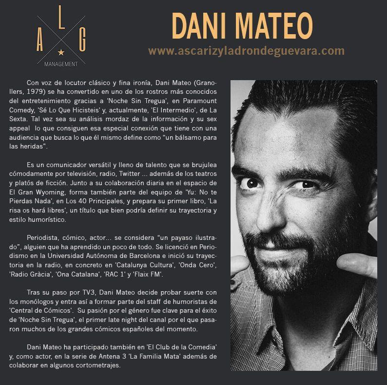 Este viernes, Dani Mateo en el Buero Vallejo