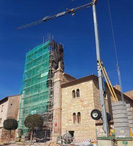 El Gobierno regional financia las obras de restauración de la iglesia de San Felipe, en Molina de Aragón