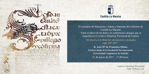 """El archivo de Cuenca inicia el ciclo """"Promoción de la Investigación Histórica"""" hablando del dinero en la historia"""