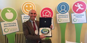 """José Luis Martínez, de Alomacid del Marquesado, reconocido por séptima vez, en los II Premios """"Mi empresa es saludable"""" con el galardón """"Bienestar emocional"""""""