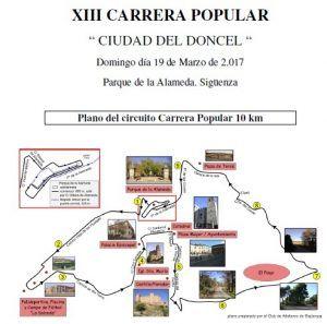 """El domingo 19 se celebra en Sigüenza la XIII Carrera Popular """"Ciudad del Doncel"""""""