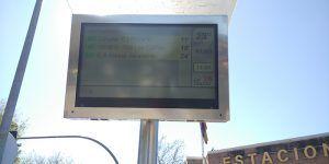Se sigue trabajando para solucionar los problemas puntuales en algunas pantallas TFT de los autobuses de Guadalajara