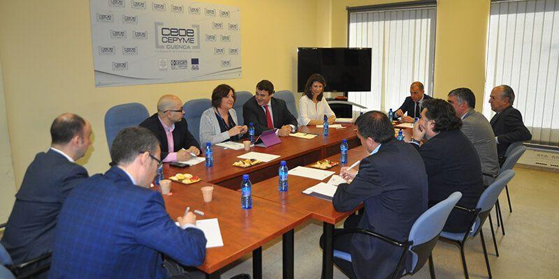 CEOE-Cepyme Cuenca pide colaboración de la Junta para elaborar el mapa de suelo industrial de la provincia