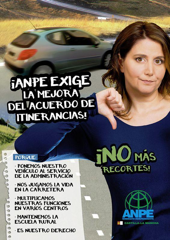 ANPE considera un ataque a los docentes itinerantes los recortes recogidos en el borrador de itinerancias de la Junta