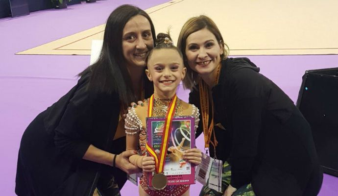 Aimara Fajardo, campeona de España de Gimnasia Rítmica