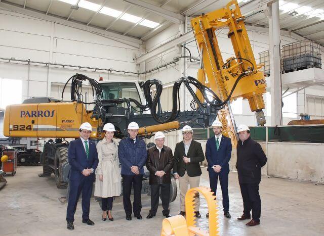 Caja Rural CLM visita el Grupo Parrós S.L., empresa especialista en obra civil auxiliar para ferrocarril