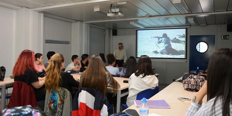 Clase magistral de Fidel Raso a los alumnos de Comunicación Audiovisual de la Universidad de Alcalá de Henares