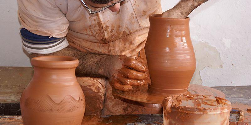 Demostraciones de artesanía de la Escuela de Folklore de la Diputación mañana en Fuentelviejo