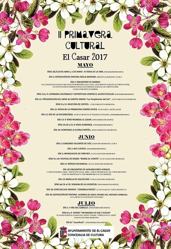 El Ayuntamiento de El Casar diseña una intensa y completa 'Primavera Cultural'