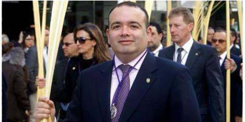El vicesecretario de la JdC, Rodrigo Merchante, pregona este sábado la Semana Santa en Las Mesas