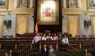 Empresarios y profesionales de Azuqueca visitan el Congreso de los Diputados