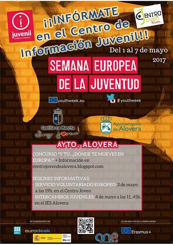 Los jóvenes de Alovera celebrarán la Semana Europea de la Juventud del 1 al 7 de mayo