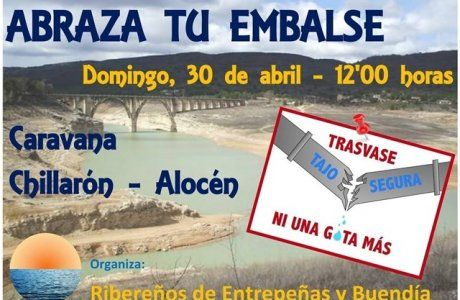 Los municipios ribereños vaciarán garrafas de agua en viaducto de Entrepeñas este domingo como protesta al trasvase