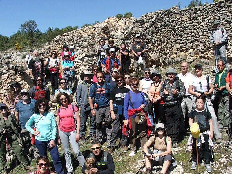Unos 40 participantes acudieron a Chumillas en la primera actividad del Campus Diputación de Cuenca Senderismo 2017