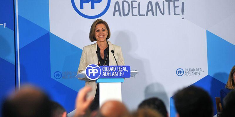 Cospedal recuerda que desde el PP trabajamos para que el crecimiento económico que vivimos en España se siga convirtiendo en creación de empleo