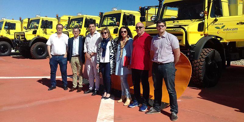 Guadalajara y Cuenca reciben tres autobombas que se incorporan esta campaña al Servicio de Extinción de Incendios Forestales
