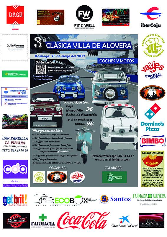 La III Clásica Villa de Alovera de coches y motos antiguas traerá cortes de tráfico... ¡Atentos!