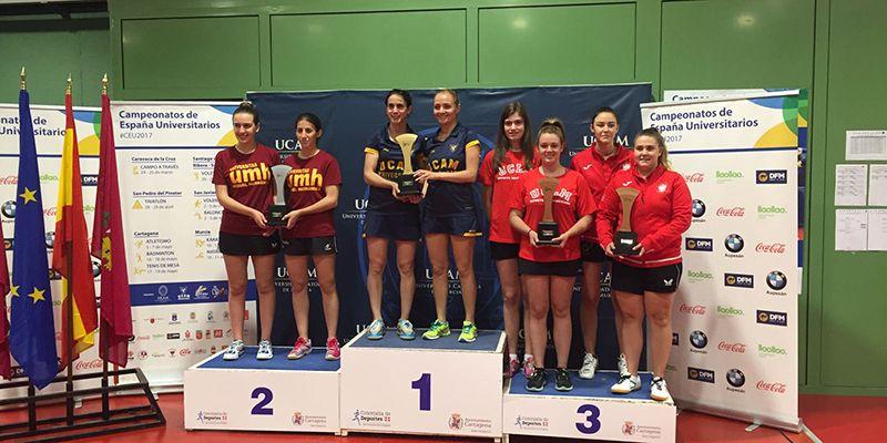 La UCLM suma dos bronces en los Campeonatos Españoles Universitarios de tenis de mesa y bádminton