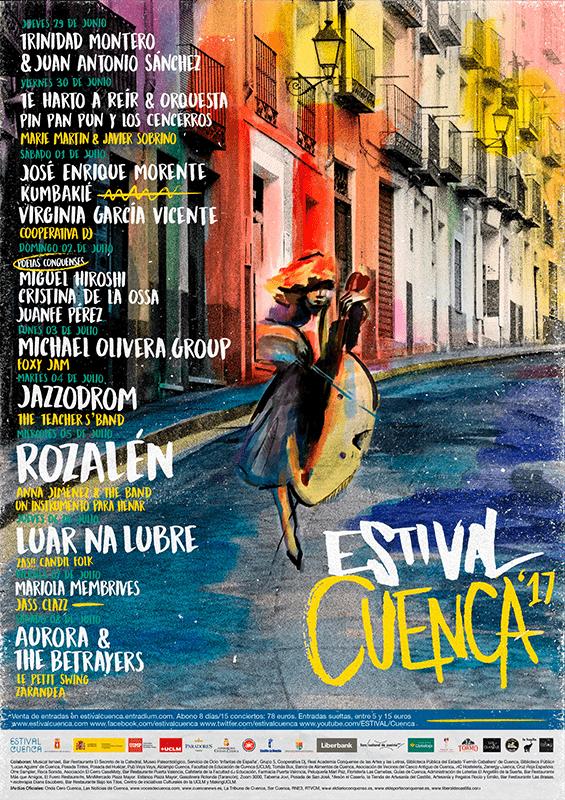 Presentado el cartel de Estival Cuenca 2017