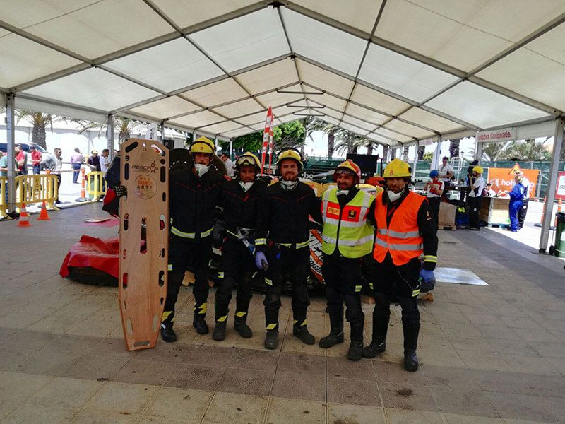 Cinco bomberos de Cuenca participan en el Campeonato de España de Rescate en Accidentes de Tráfico