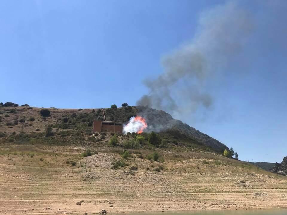 Controlado un incendio forestal en Sacedón