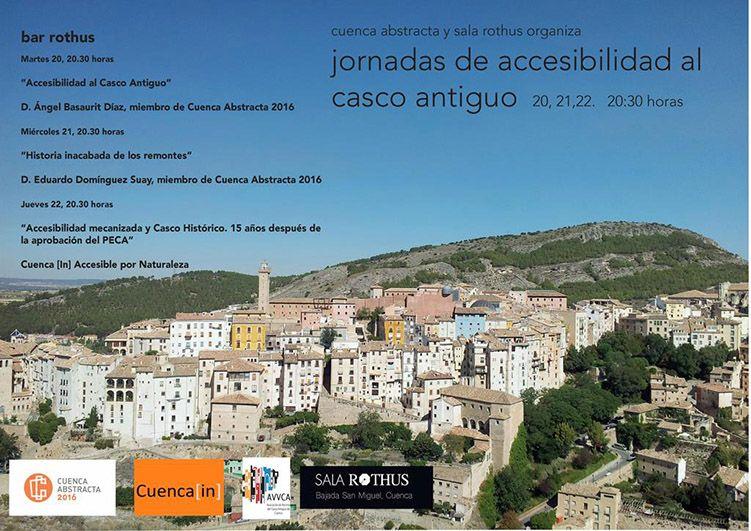 Cuenca Abstracta y Rothus organizan unas Jornadas de Accesibilidad al Casco Antiguo de Cuenca
